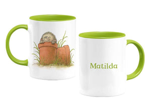 Percy The Park Keeper Mug Hedgehog - personalised two tone mug