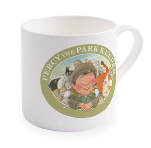 Percy The Park Keeper Mug Percy and friends wheelbarrow - big bone china mug