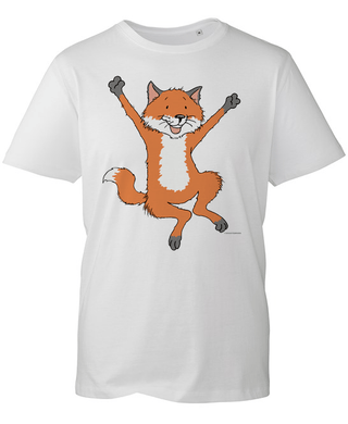 Percy The Park Keeper T-shirt Fox Leaping T-shirt - White