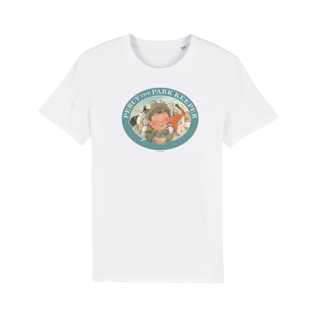 Percy The Park Keeper T-shirt Percy and friends together T-shirt kids - white