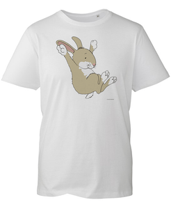 Percy The Park Keeper T-shirt Rabbit Leaping T-shirt - White