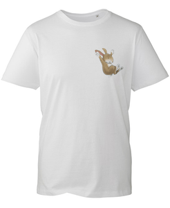 Percy The Park Keeper T-shirt Rabbit Logo T-shirt - White