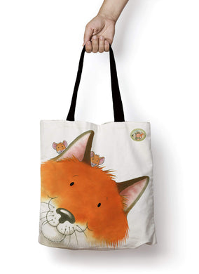 Percy The Park Keeper Tote bag Fox and mice premium Tote Bag - Large