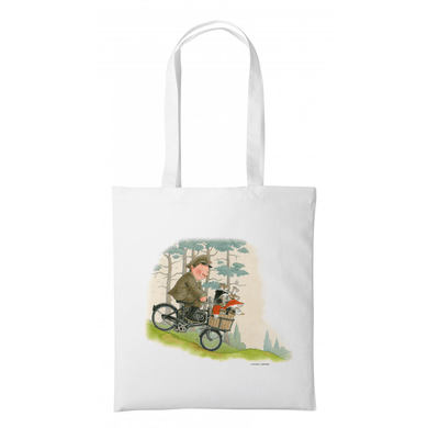 Percy The Park Keeper Tote bag Percy and Friend on Bike - Tote Bag