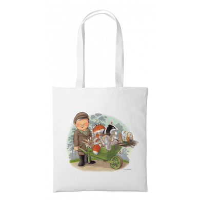 Percy The Park Keeper Tote bag Percy and Wheelbarrow- Tote Bag