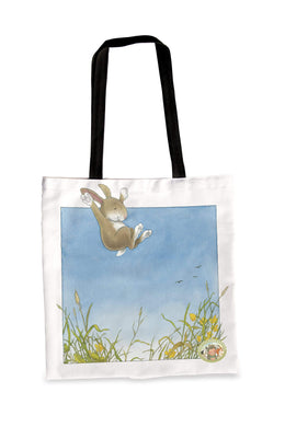 Percy The Park Keeper Tote bag Rabbit leaping premium Tote Bag - Large