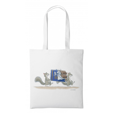 Percy The Park Keeper Tote bag Squirrels and Chocolate Bar- Tote Bag