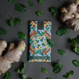 65% Dark Chocolate with Ginger and Mint