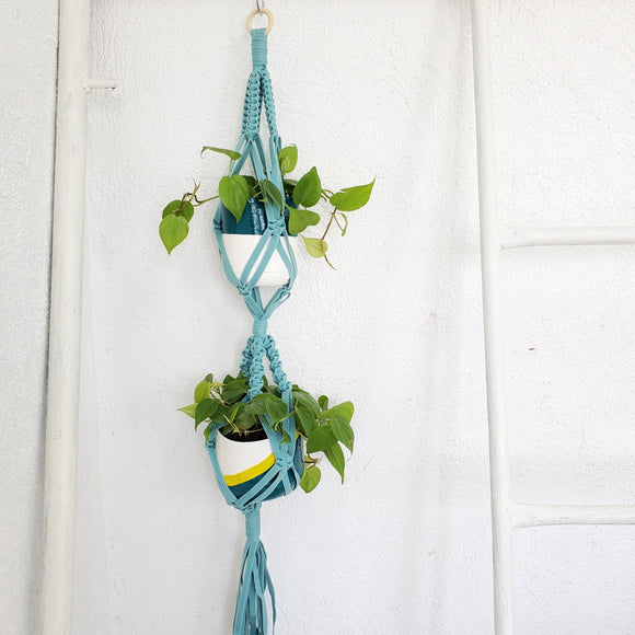 Silay Hanging Double Plant Holder