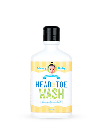 Messy Baby Head to Toe Wash