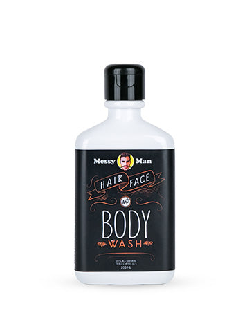 Messy Man Hair Face Body Wash