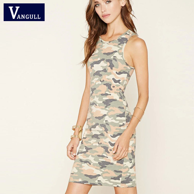 Sexy Bodycon Party Dress camouflage style S-XL