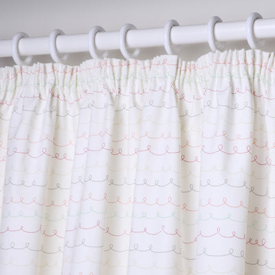 Bed-e-Byes Zippy Zebra Tape Top Long Curtains 167cm x 183cm