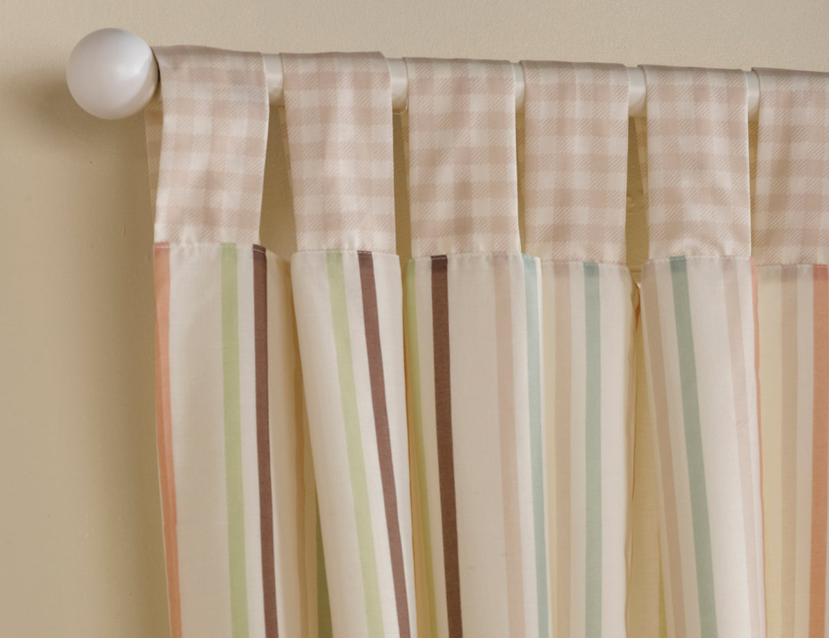 Baxter and Rosie Tab Top Curtains 132cm x 160cm