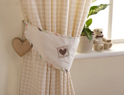 Baxter and Rosie Tape Top Curtains 132cm x 160cm