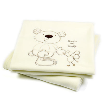Bed-e-Byes Bramble and Smudge Cot / Cotbed  Fleece Blanket
