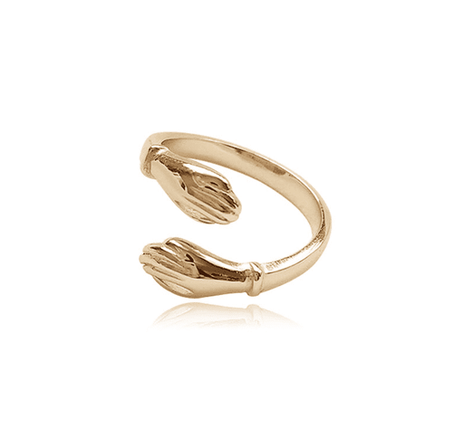 The Open Palms Ring in Gold-Plated 925 Sterling Silver