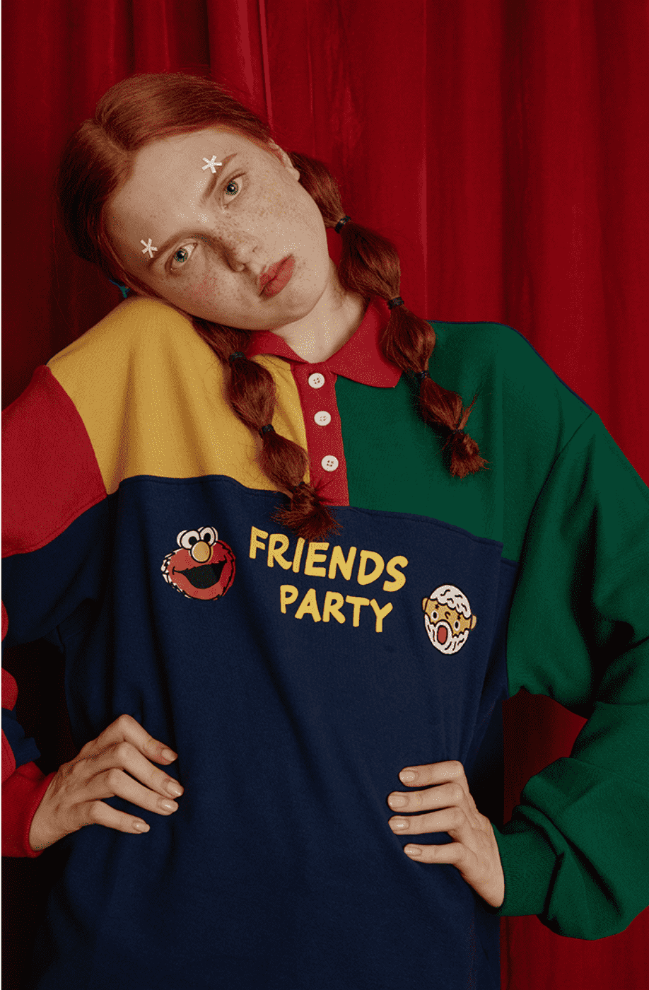 I Party With Elmo Polo Sweater - Kina & Tam