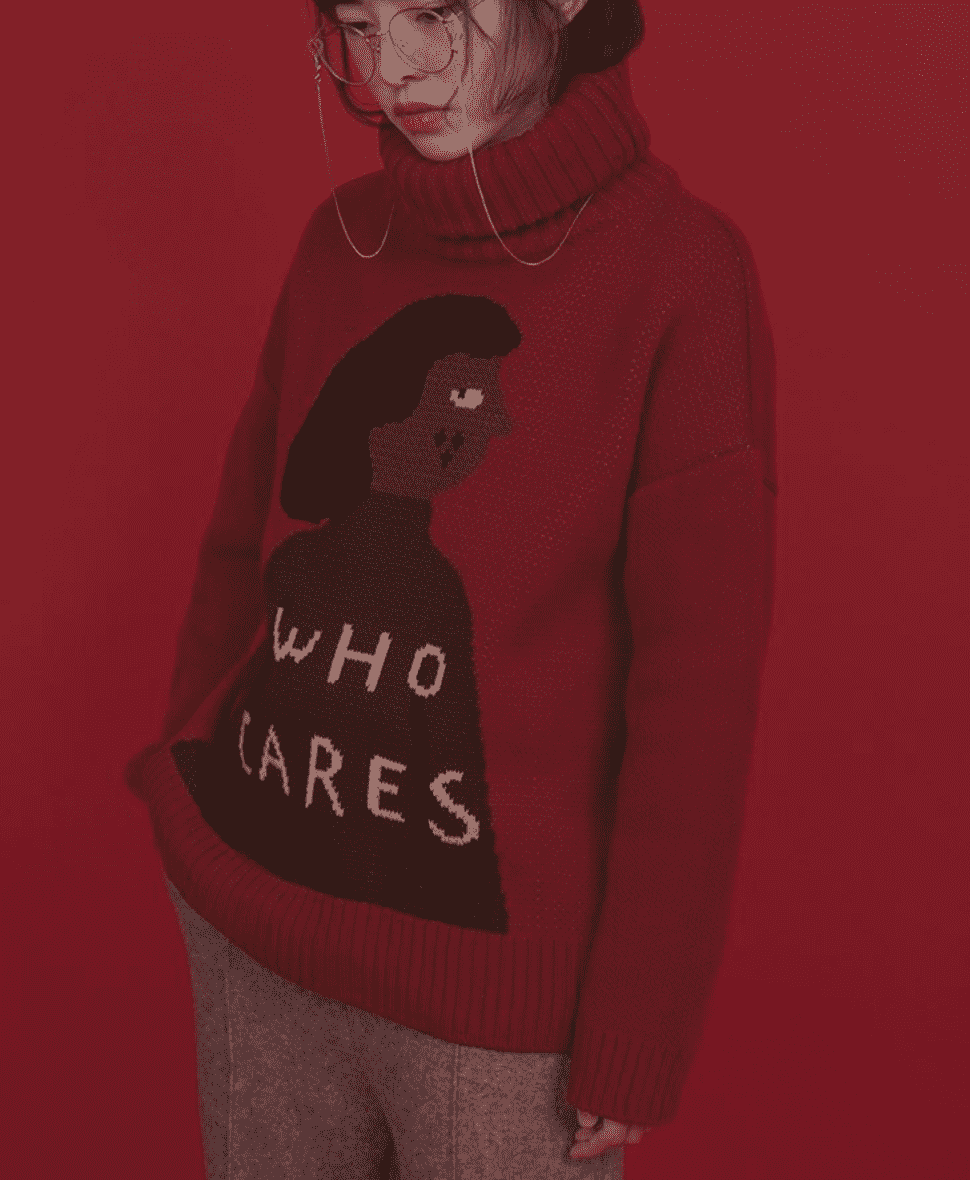 The Who Cares Turtleneck Jumper - Kina & Tam