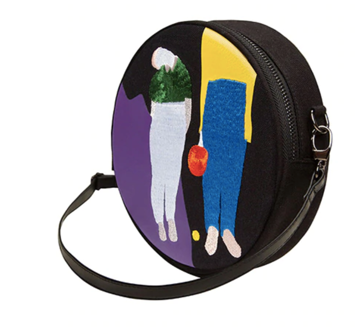 The Ping Pong Embroidered Messenger Bag - Kina & Tam