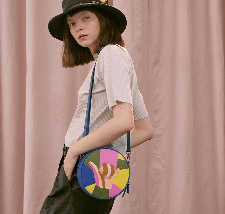The Rock On Embroidered Messenger Bag - Kina & Tam