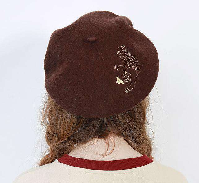 The Fallen Grandpa Wool Beret - Kina & Tam