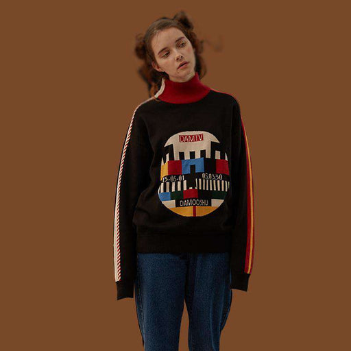 The TV Mock Wool Sweater
