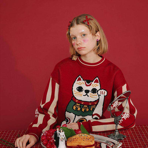 The Lucky Cat Sweater - Kina & Tam