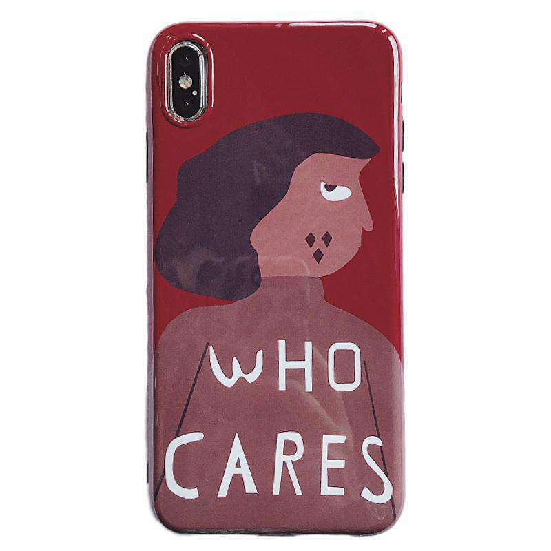 The Who Cares iPhone Case - Kina & Tam