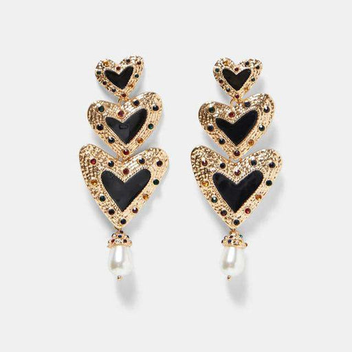The Queen of Hearts Drop Earrings - Kina & Tam