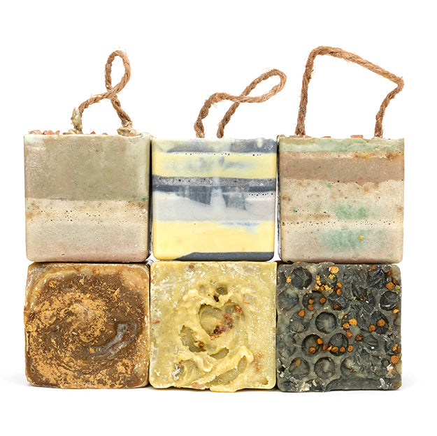 Bundle of 6 natural and organic soaps