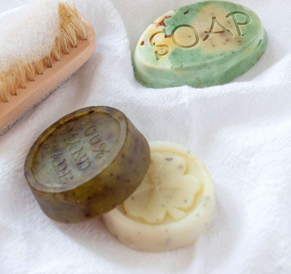 Mini soaps for travel, facial or hand soaps