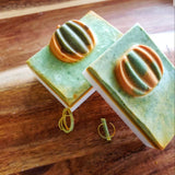 PUMPKIN HARVEST BAR SOAP WITH SPIRULINA & ORGANIC TURMERIC. INFUSED WITH  LAVENDER & PATCHOULI ESSENTIAL OILS.