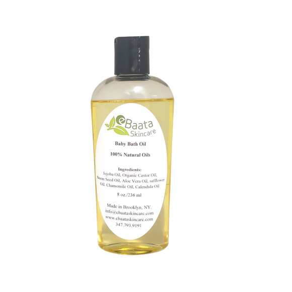 Natural Baby Bath Oil 8 oz.
