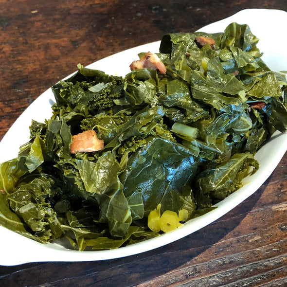 Pound Collards & Kale with Bacon - Pre-Order