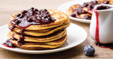 Paleo Pancake with Blueberry Compote