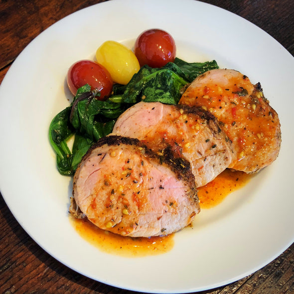 Pork Tenderloin with Heirloom Tomato