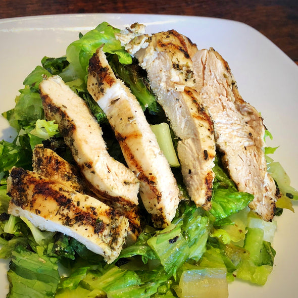 Grilled Romaine with Italian Chicken