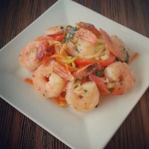 Shrimp Scampi with Julienned Vegetables