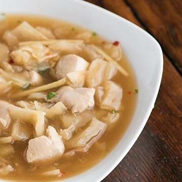 Asian Chicken & Cabbage Soup
