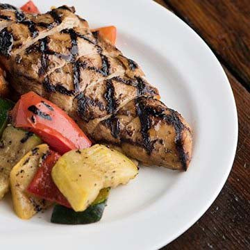 Balsamic Chicken with Grilled Vegetables
