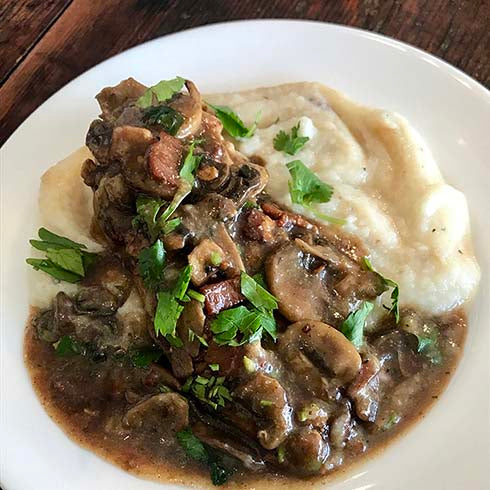 Chicken Marsala with CauliMash