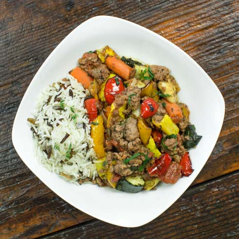 Family Rustic Beef Ratatouille