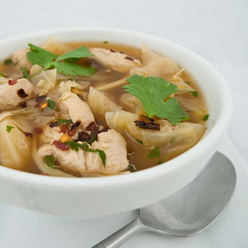 hCG Asian Chicken & Cabbage Soup