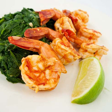 hCG Chipotle Lime Shrimp with Spinach