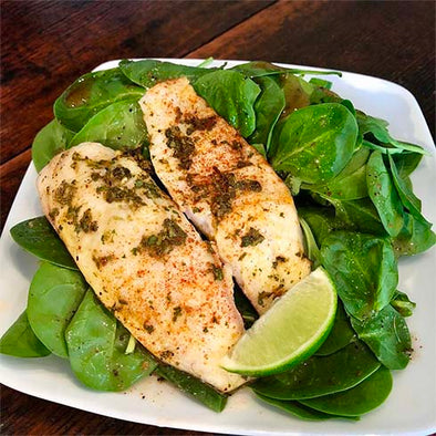 hCG Cilantro Chipotle Tilapia with Spinach