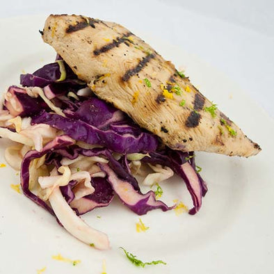hCG Citrus Chicken with Red & White Cabbage Slaw