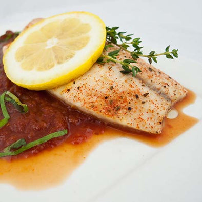 hCG Lemon Herb Tilapia with Tomato Basil Coulis