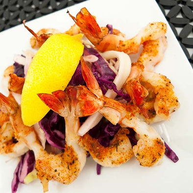 hCG New Orleans Shrimp with Red & White Slaw