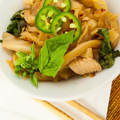 hCG Thai Basil Chicken with Spicy Cabbage